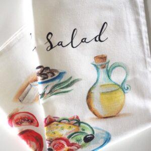 Greek Salad Tea Towel