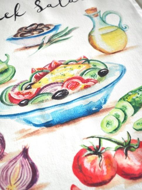 Greek Salad Tea Towel image 3